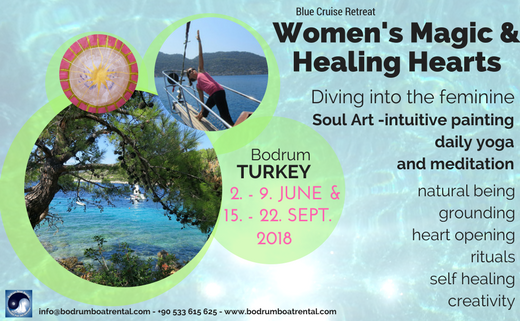 Womens Magic & Healing Hearts Blue Cruise